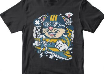 Leopard Pilot t shirt vector graphic