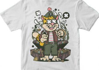 Leopard Pirate vector t-shirt design