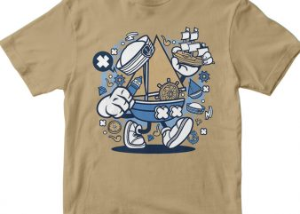 Little Sailor t shirt vector graphic