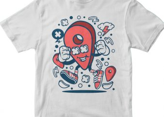 Location t shirt vector graphic
