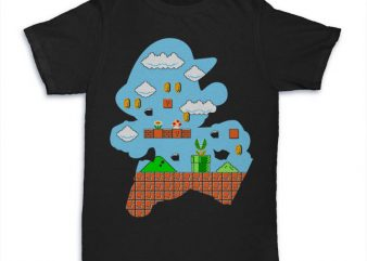 Mario World Tshirt t-shirt design png