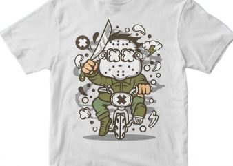 Minibike Slayer vector t shirt design for download