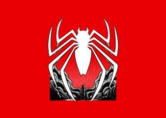 Spiderman Dark Logo Tshirt Design