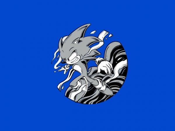 Sonic With Cloud T Shirt Design Buy T Shirt Designs