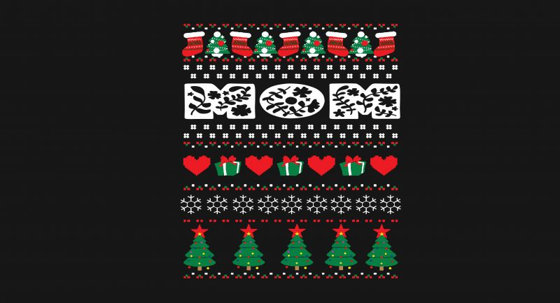 Mommy Christmas tshirt designs for merch by amazon