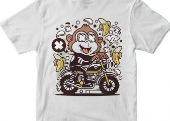 Monkey Motocrosser t shirt designs for sale