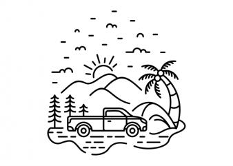 My Truck My Adventure design for t shirt