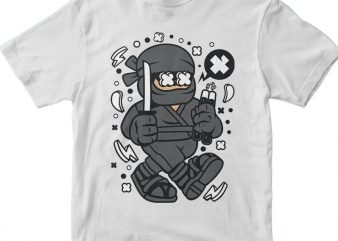 Ninja Kid t shirt design for purchase