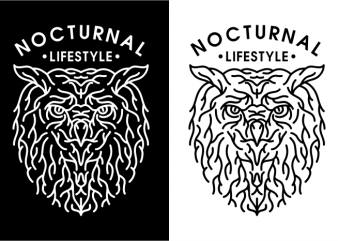 Nocturnal Lifestyle T shirt vector artwork