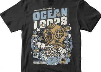 Ocean Loops buy t shirt design artwork