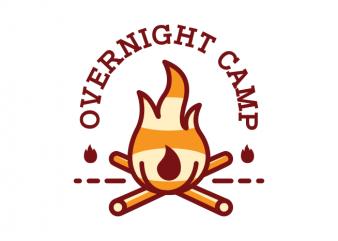 Overnight Camp vector shirt design