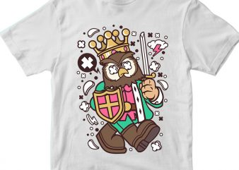 Owl King t shirt design online