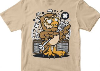Owl Singer vector t shirt design artwork