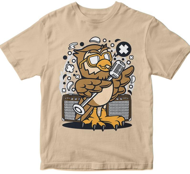 Owl Singer vector t shirt design artwork - Buy t-shirt designs