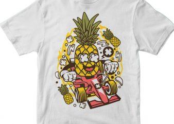 Pineapple Formula Racer t shirt illustration