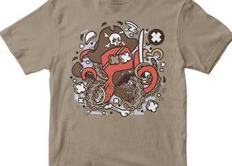 Pirate Octopus buy t shirt design artwork