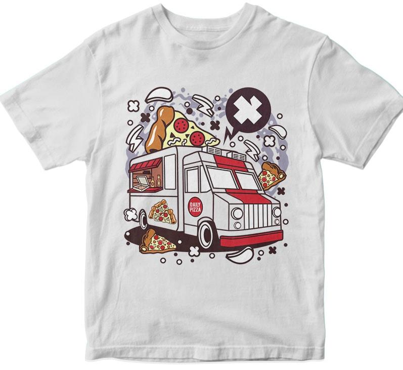 Pizza Van buy tshirt design