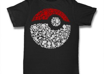 Pokeball Tshirt graphic t-shirt design