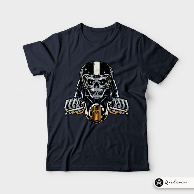 Death Biker t shirt designs for sale