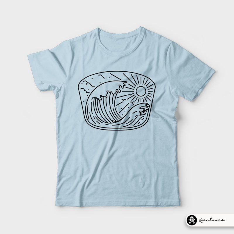 Good Wave t shirt designs for print on demand