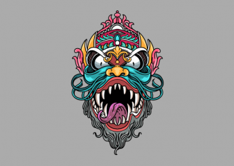 Dragon Oriental t shirt vector illustration