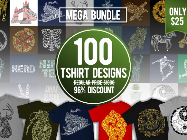 100 t-shirt designs bundle