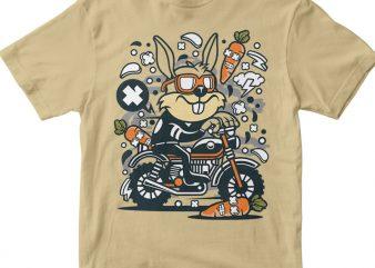 Rabbit Motocrosser t shirt design online