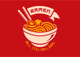 Ramen buy t shirt design for commercial use