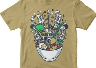 Ramen Rock vector shirt design