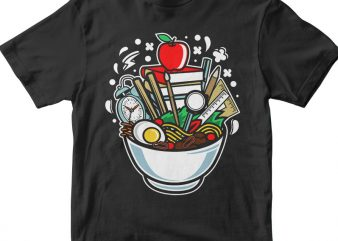 Ramen School tshirt design for sale