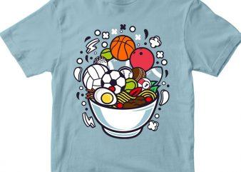 Ramen Sports t shirt design online