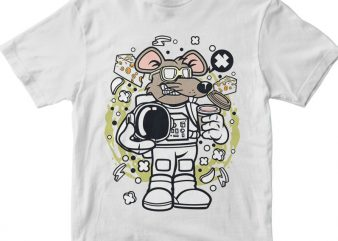 Rat Astronaut t shirt design online