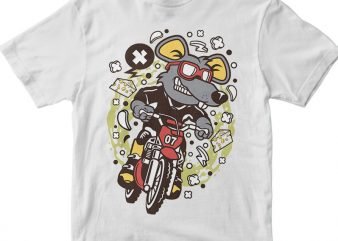 Rat Motocross Rider tshirt design for sale