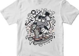 Rat Rocking Horse t shirt design online