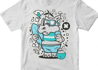 Rhino Surfing buy t shirt design