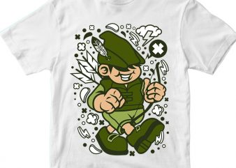 Robin Hood Kid vector t-shirt design