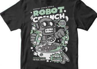 Robot Crunch buy t shirt design for commercial use