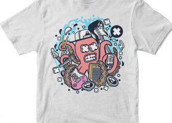 Rock Octopus t shirt design online