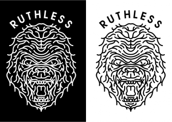 Ruthless t shirt design online