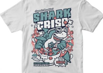 Shark Crisp t shirt template vector