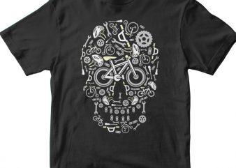 Skull Bike t shirt template vector