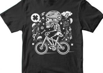 Skull Biker t shirt design png