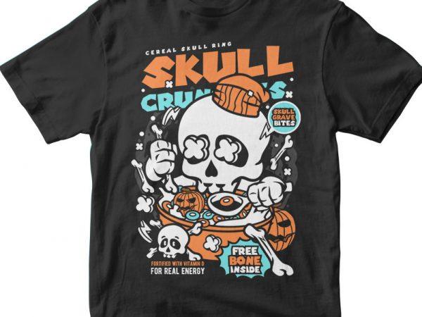 Skull Crunchies buy t shirt design artwork