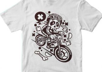 Skull Downhill t shirt template vector