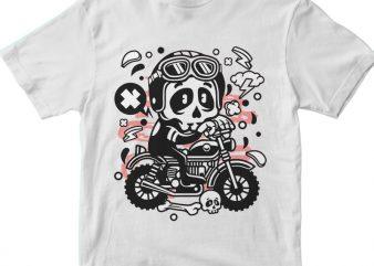 Skull Motocross t shirt template vector