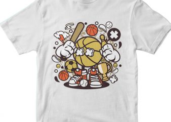 Sport Kid vector t-shirt design template