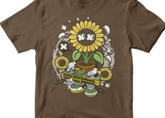Sunflower t shirt template vector