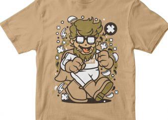 Super Hipster t shirt template vector