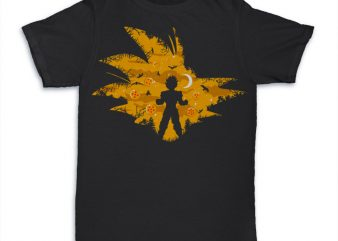 Super Saiyan design for t shirt print ready t shirt design