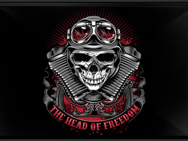 The Head of Freedom buy t shirt design for commercial use